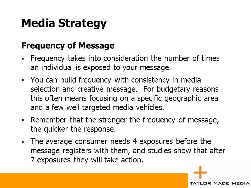 Media Strategy Frequency of Message