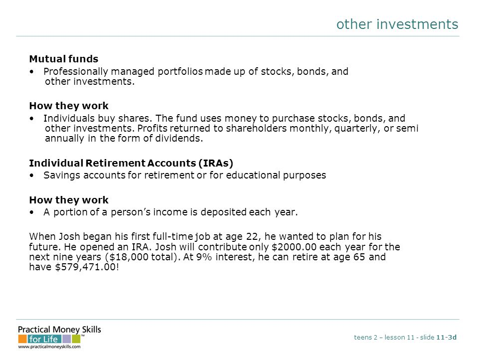 other investments Mutual funds