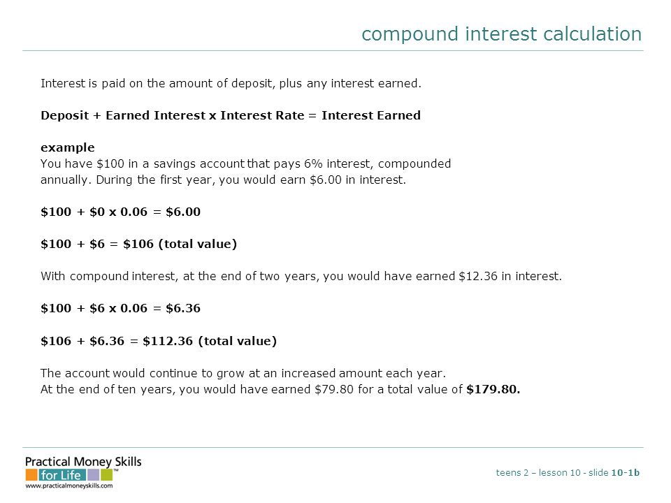 compound interest calculation
