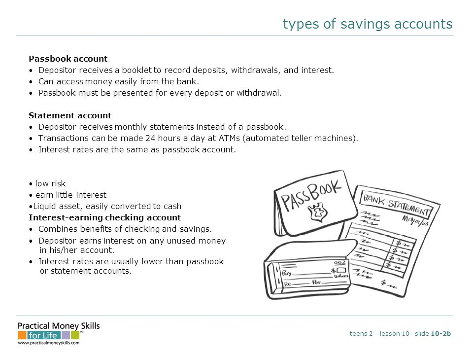 types of savings accounts