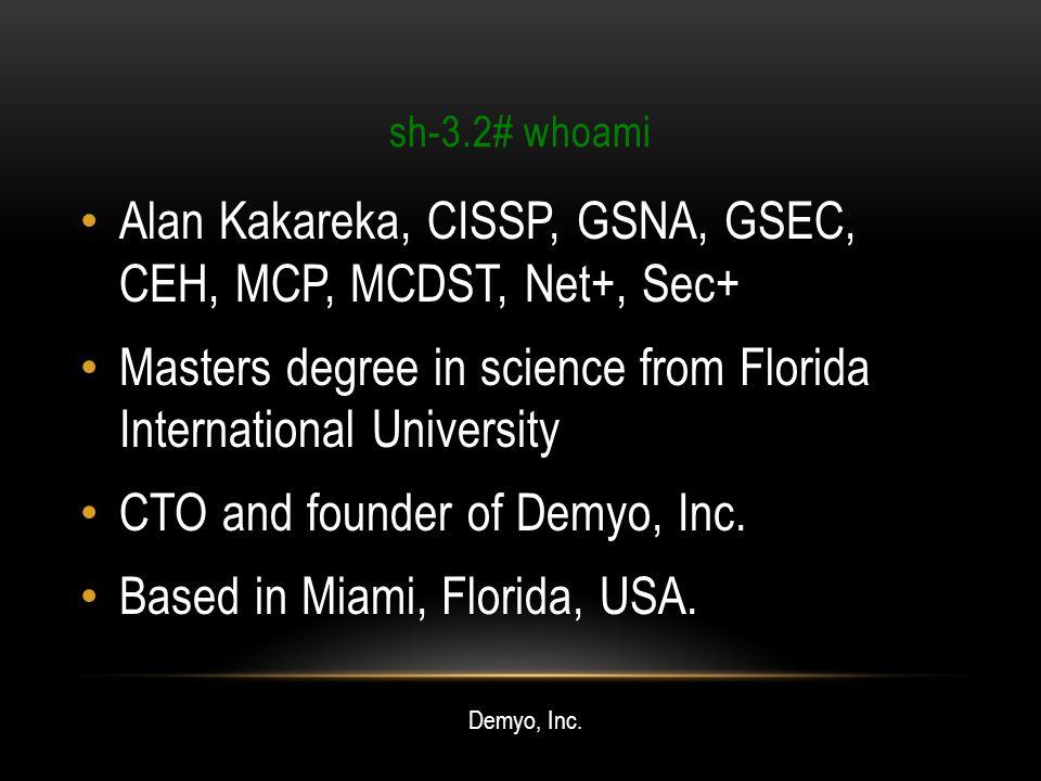Alan Kakareka, CISSP, GSNA, GSEC, CEH, MCP, MCDST, Net+, Sec+