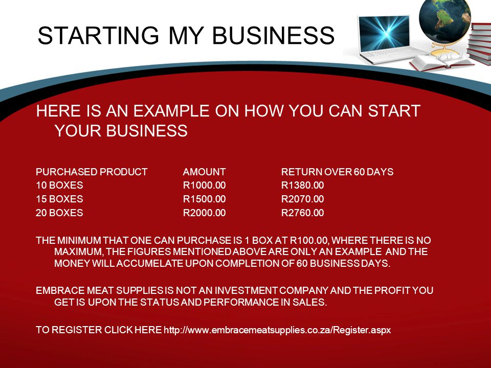 STARTING MY BUSINESS HERE IS AN EXAMPLE ON HOW YOU CAN START YOUR BUSINESS. PURCHASED PRODUCT AMOUNT RETURN OVER 60 DAYS.