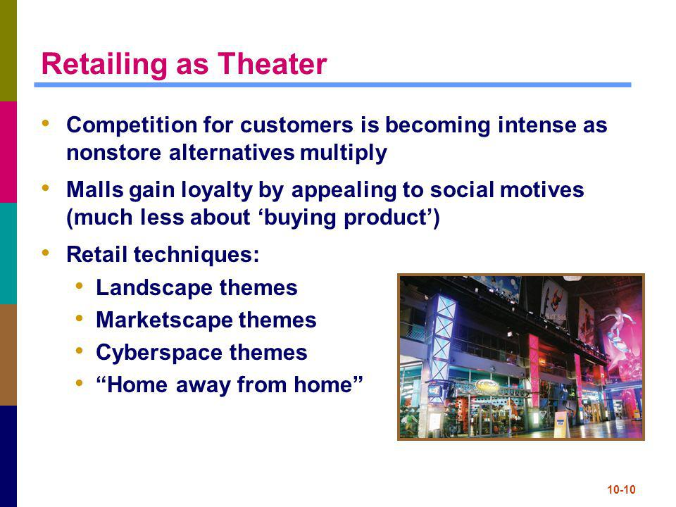 Retailing as Theater Competition for customers is becoming intense as nonstore alternatives multiply.