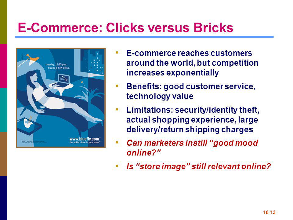 E-Commerce: Clicks versus Bricks