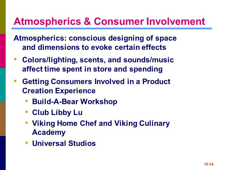 Atmospherics & Consumer Involvement