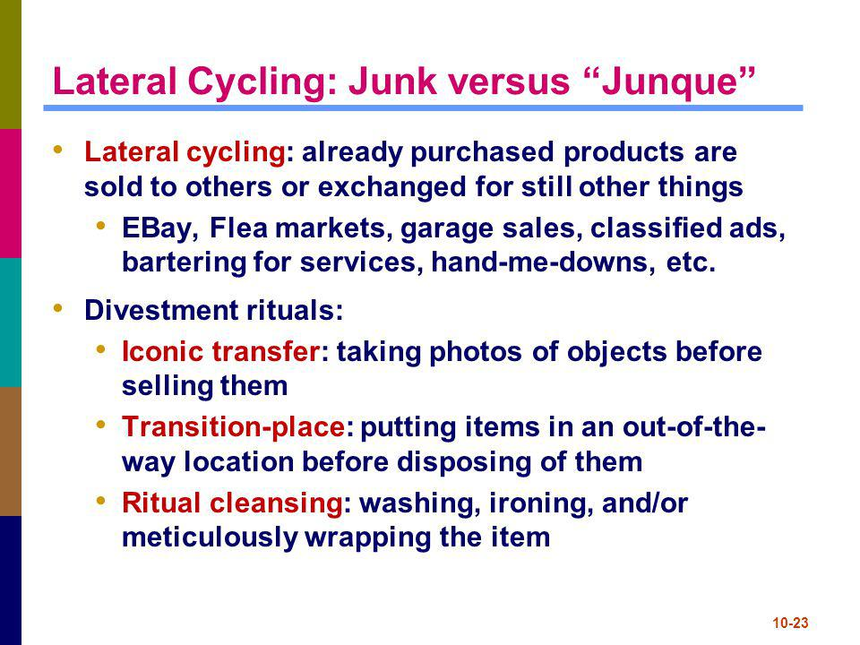 Lateral Cycling: Junk versus Junque