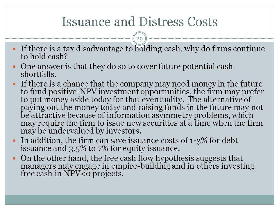 Issuance and Distress Costs