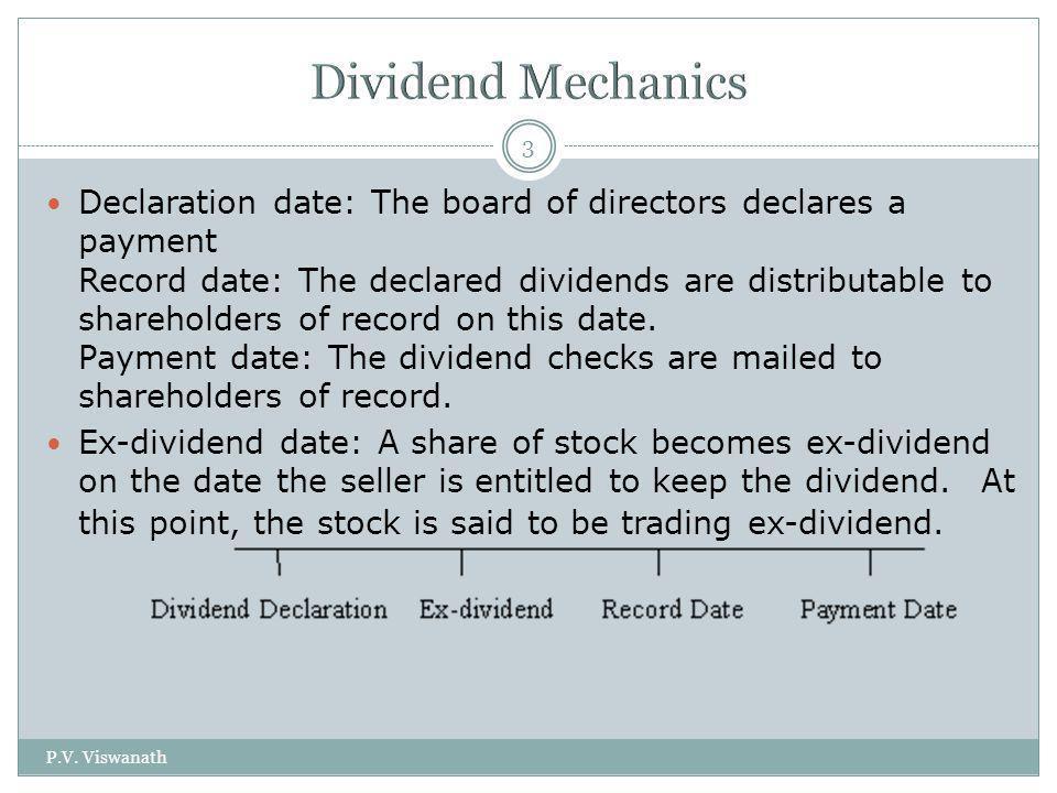 Dividend Mechanics