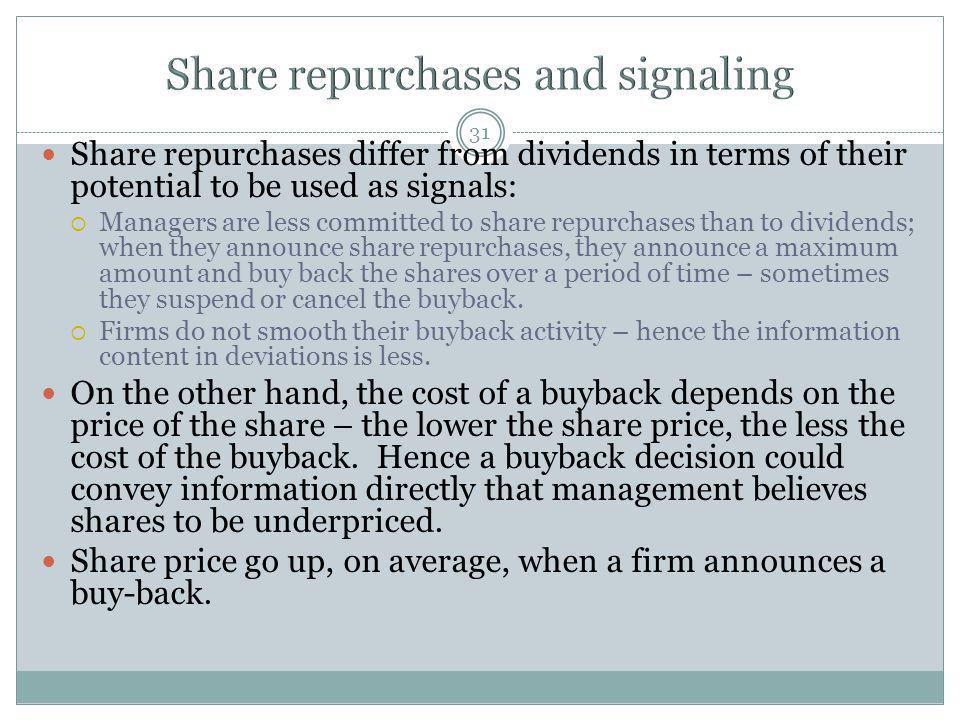 Share repurchases and signaling