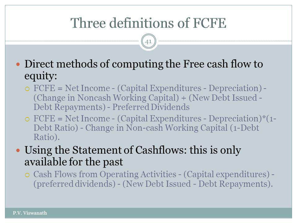 Three definitions of FCFE