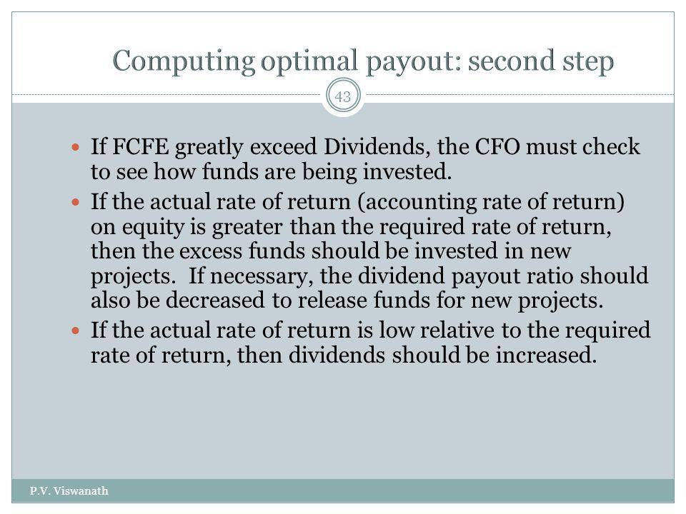 Computing optimal payout: second step