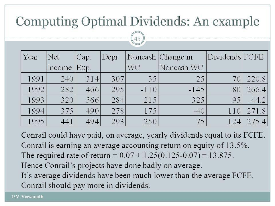 Computing Optimal Dividends: An example