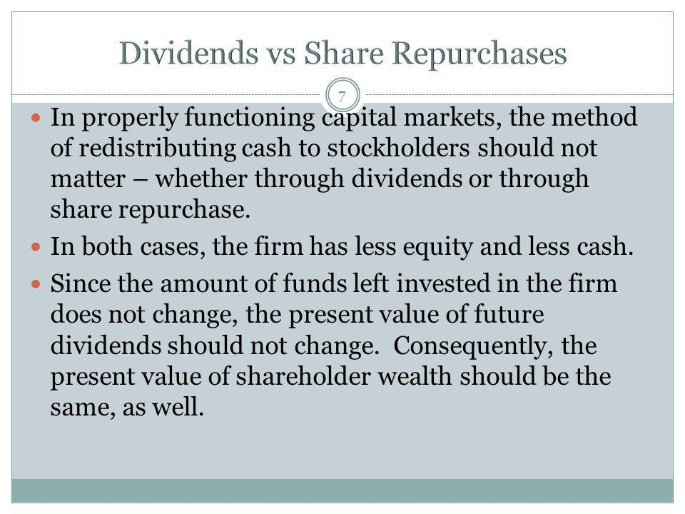 Dividends vs Share Repurchases