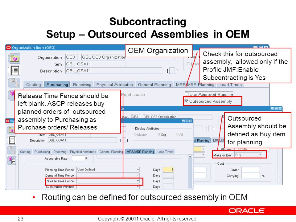 Subcontracting Setup – Outsourced Assemblies in OEM
