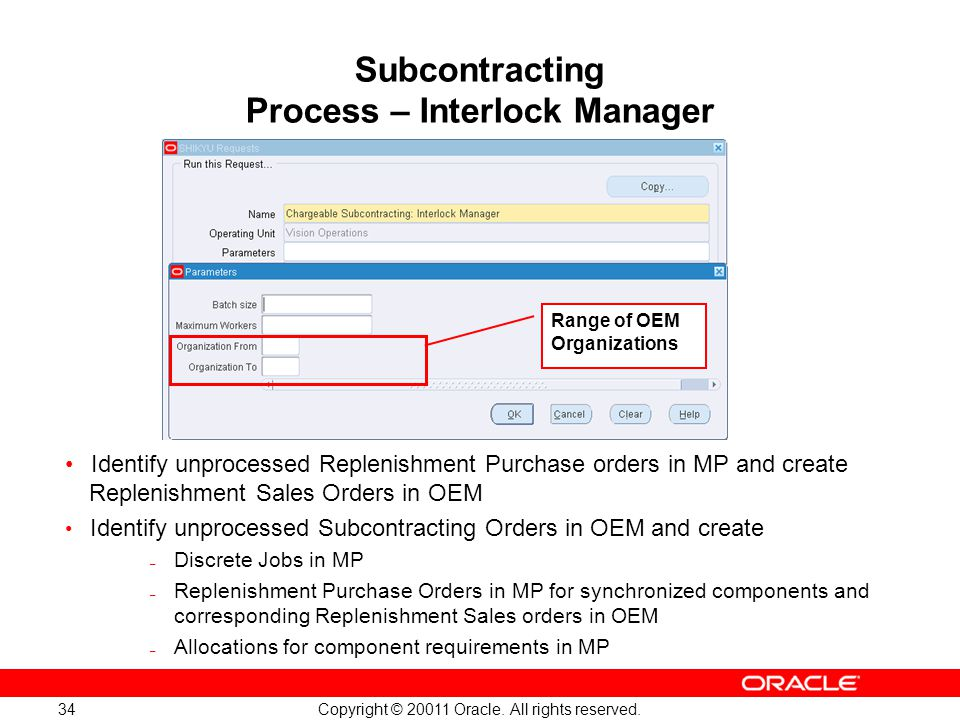 Subcontracting Process – Interlock Manager