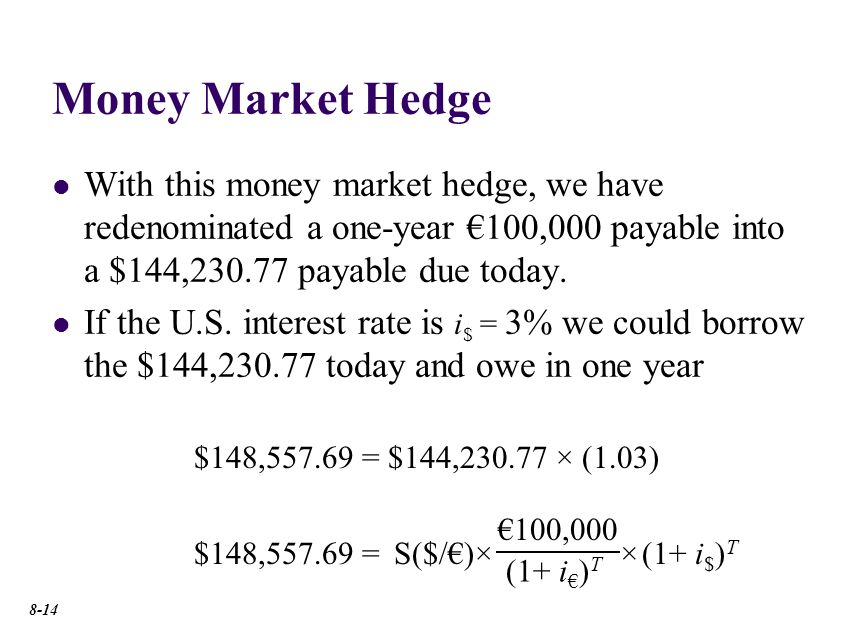 Money Market Hedge: Step One