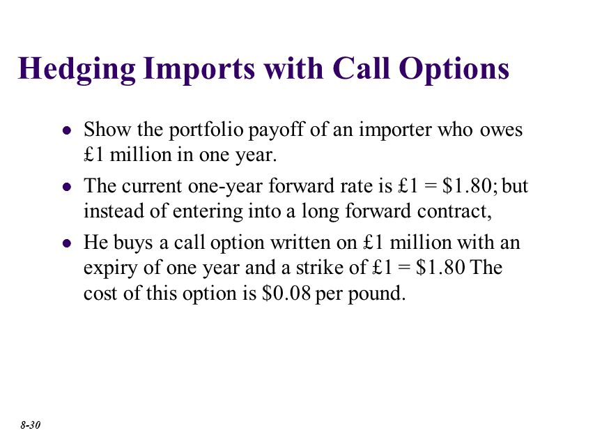 Importer buys £1m forward.