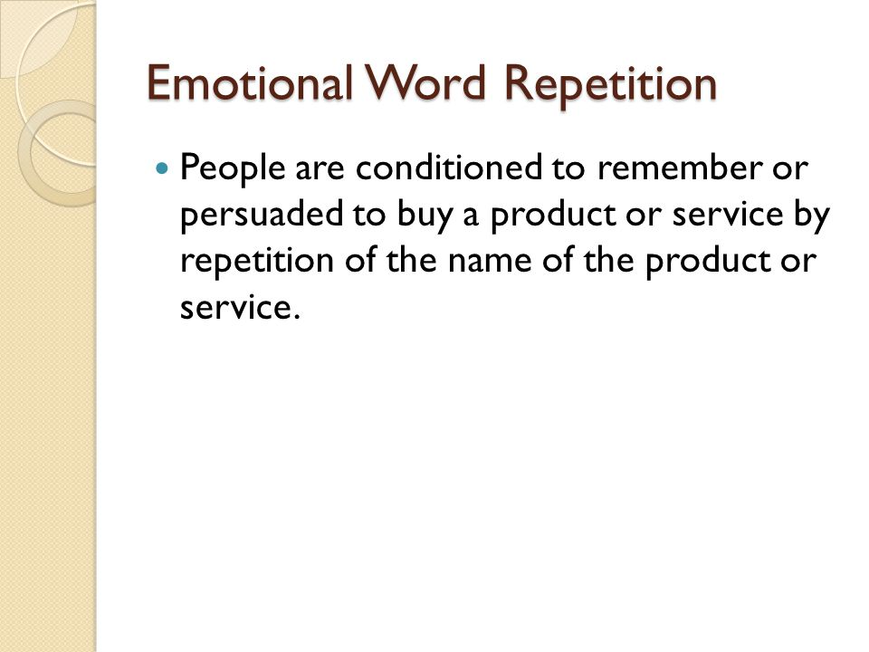Emotional Word Repetition