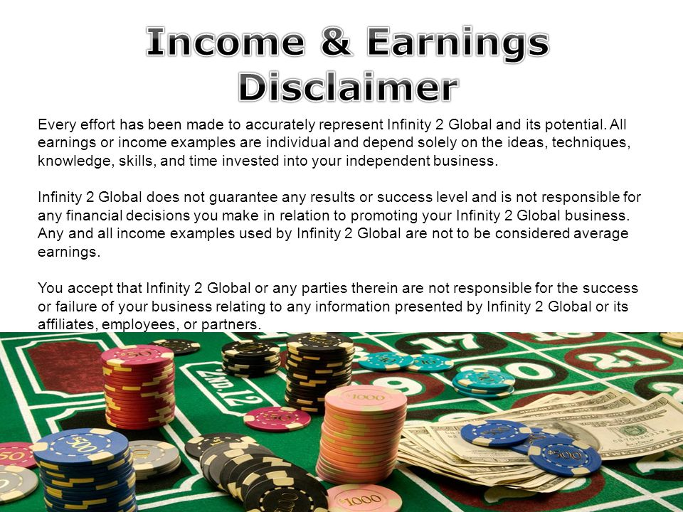 Global online entertainment ppt download for Earnings disclaimer template