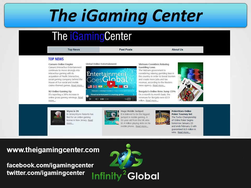 The iGaming Center   facebook.com/igamingcenter
