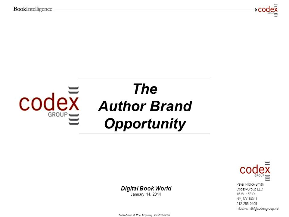 The Author Brand Opportunity