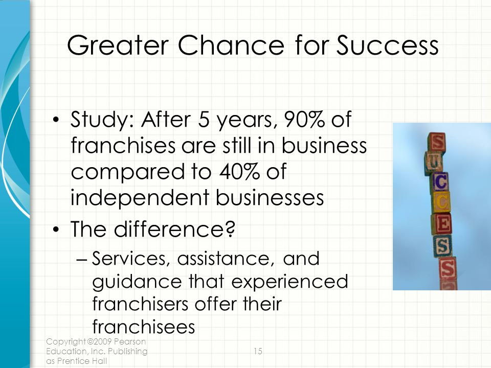 Greater Chance for Success
