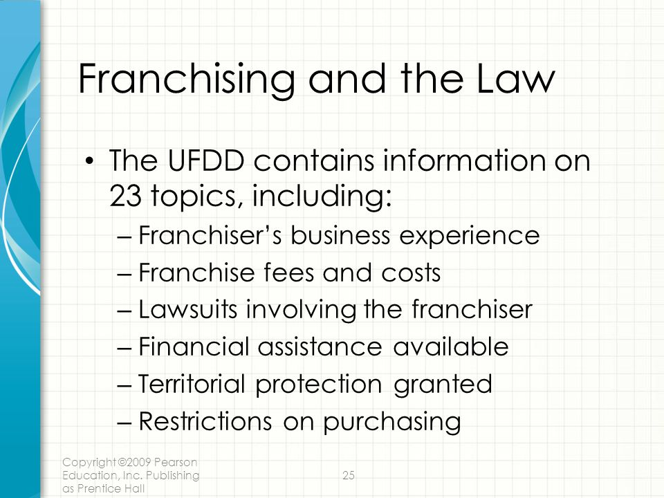 Franchising and the Law