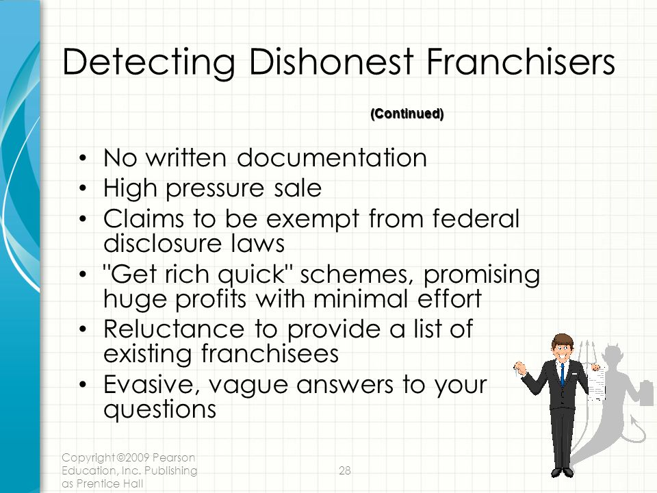 Detecting Dishonest Franchisers