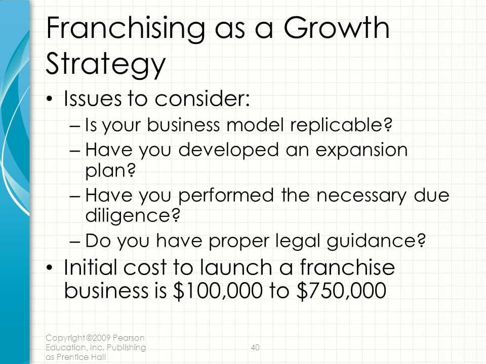 Franchising as a Growth Strategy