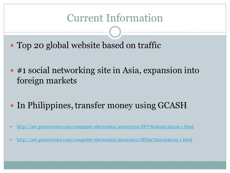 Current Information Top 20 global website based on traffic