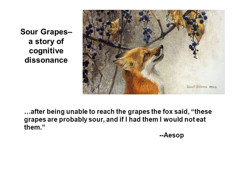 Sour Grapes– a story of cognitive dissonance