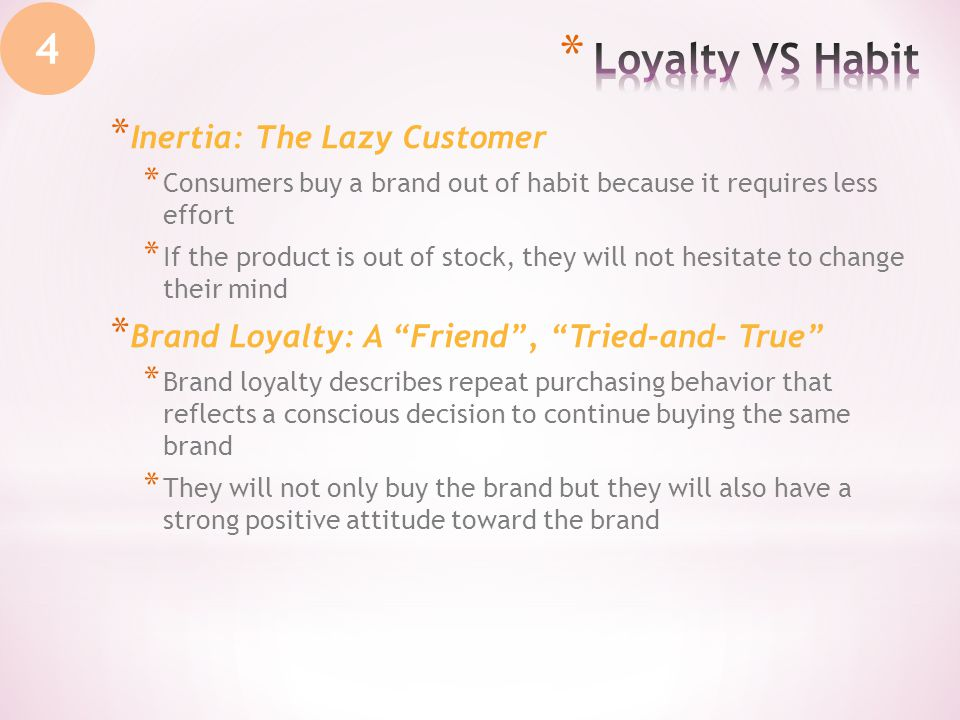 repeat purchase and brand loyalty Not all repeat purchases are the same: attitudinal loyalty and in modeling brand loyalty, for of inferring loyalty from repeat purchase behavior and render.