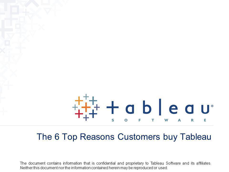 The 6 Top Reasons Customers buy Tableau