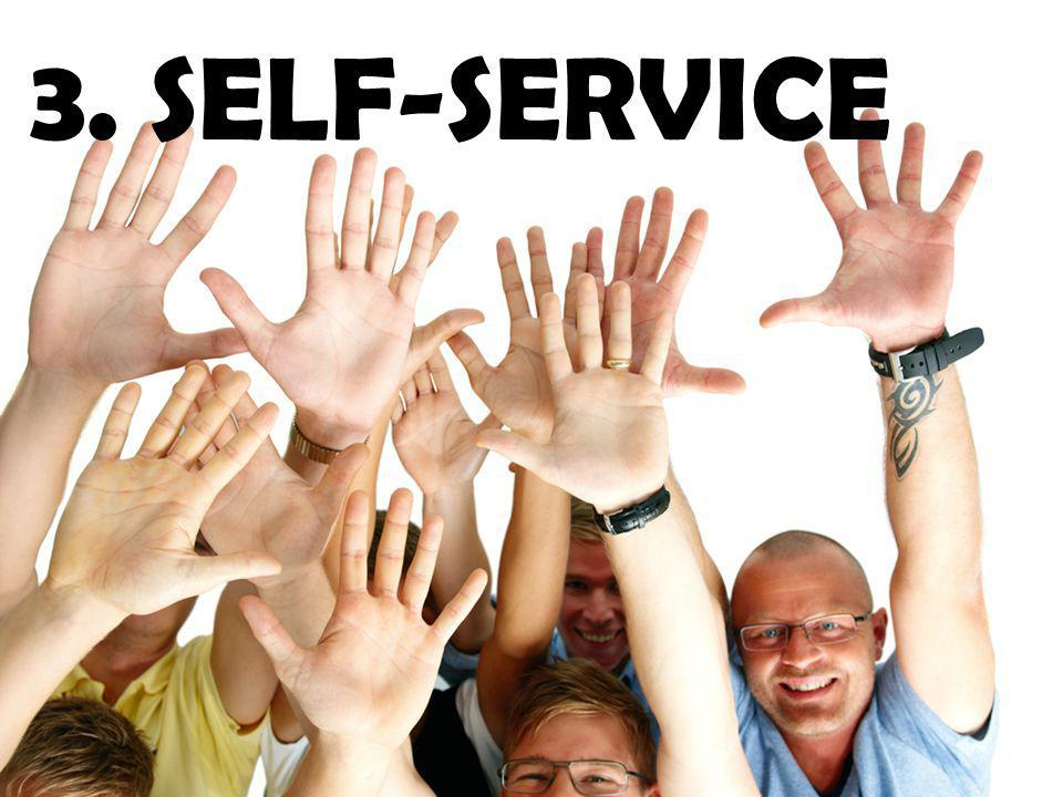 3. SELF-SERVICE Tableau allows self-service. We do this in 2 ways.