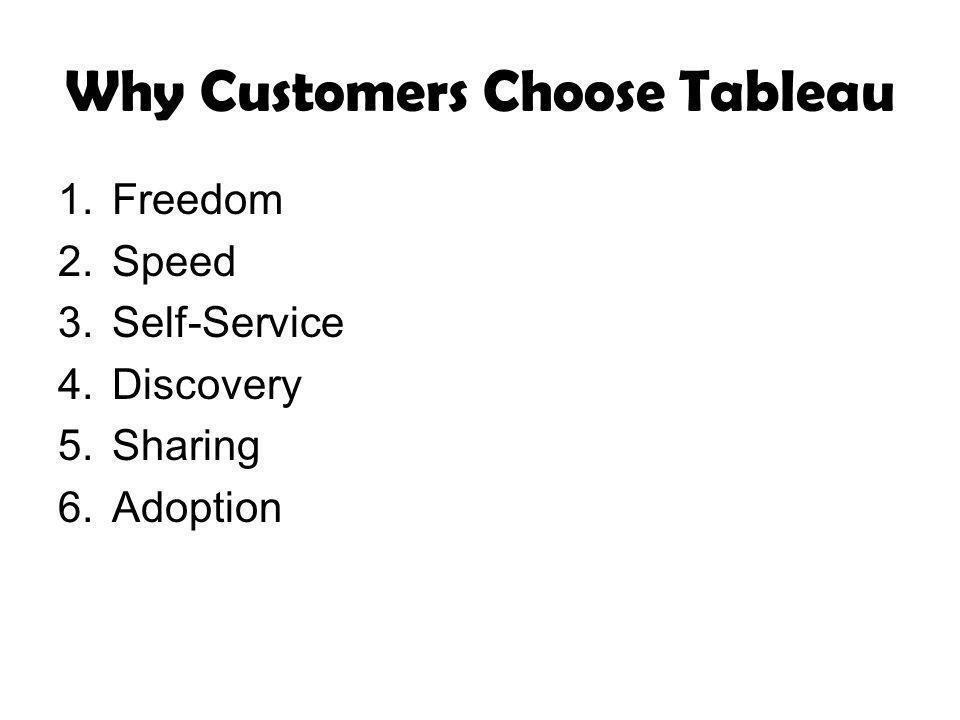 Why Customers Choose Tableau