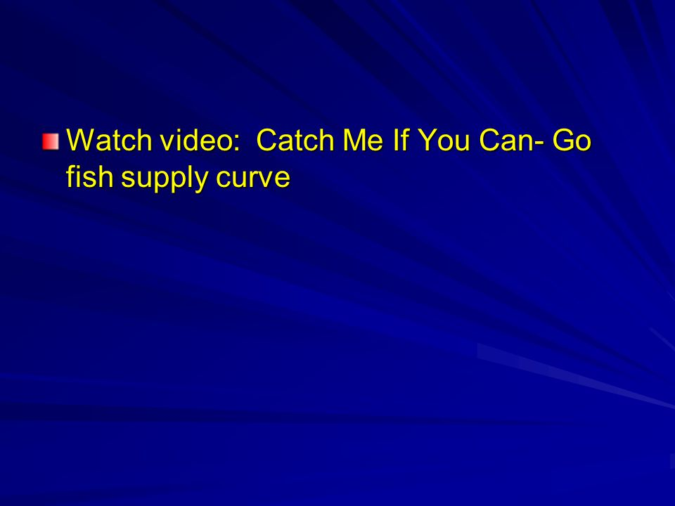 Watch video: Catch Me If You Can- Go fish supply curve