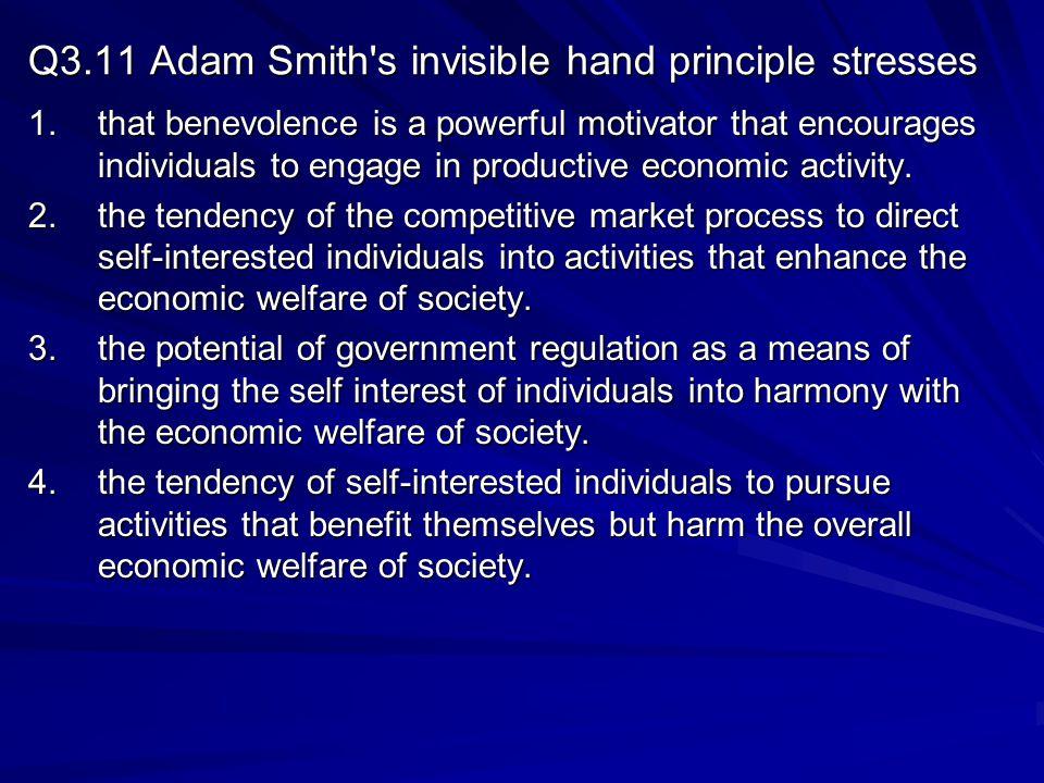 Q3.11 Adam Smith s invisible hand principle stresses