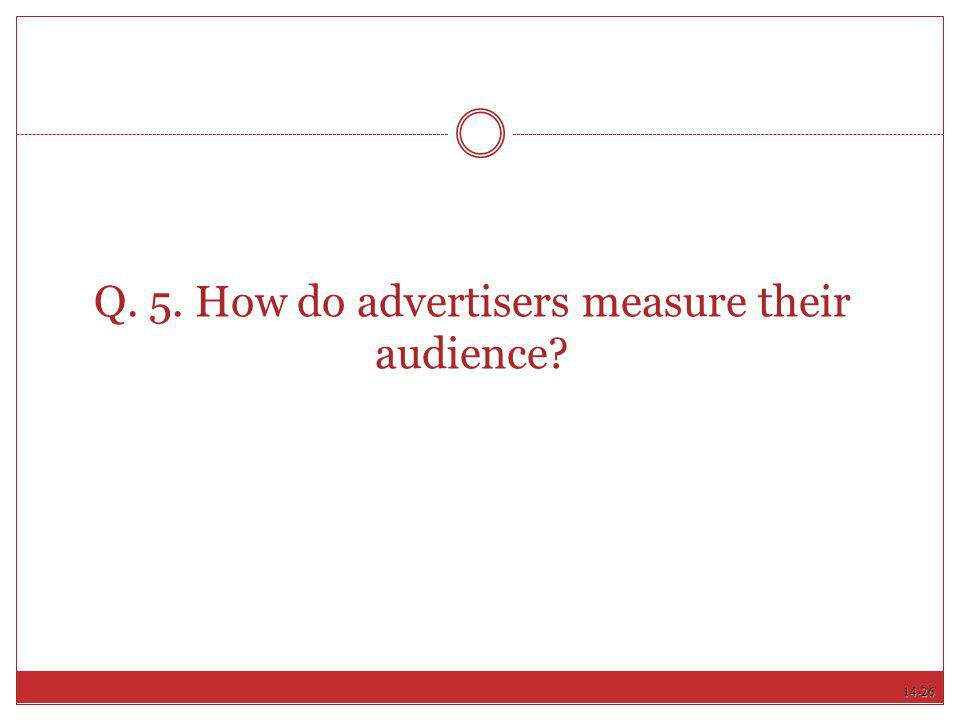 Q. 5. How do advertisers measure their audience