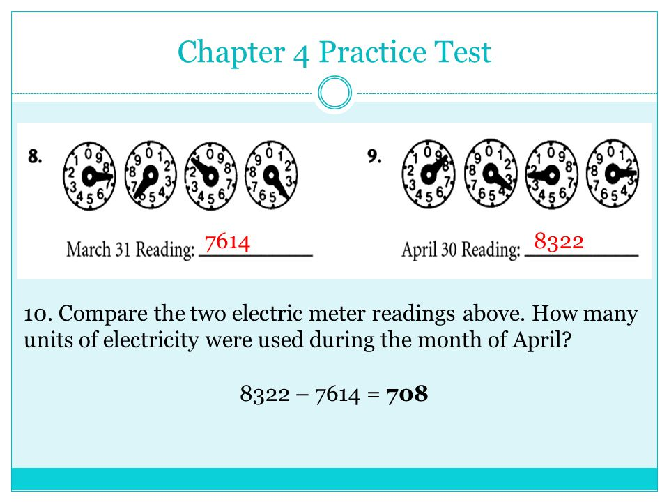 Meter Reading Practice Test : Consumer math mastery test a ppt video online download