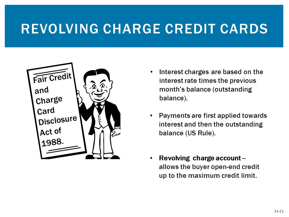 Revolving Charge Credit Cards
