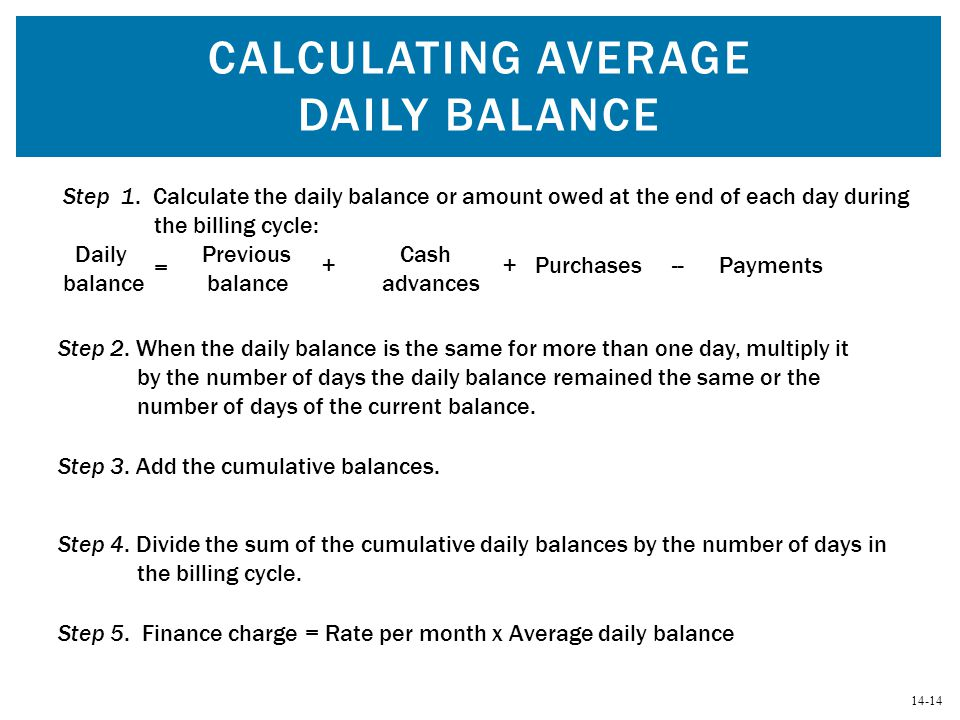 Calculating Average Daily Balance