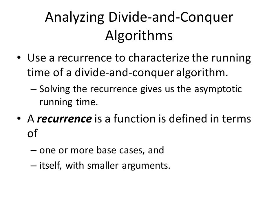 Analyzing Divide-and-Conquer Algorithms
