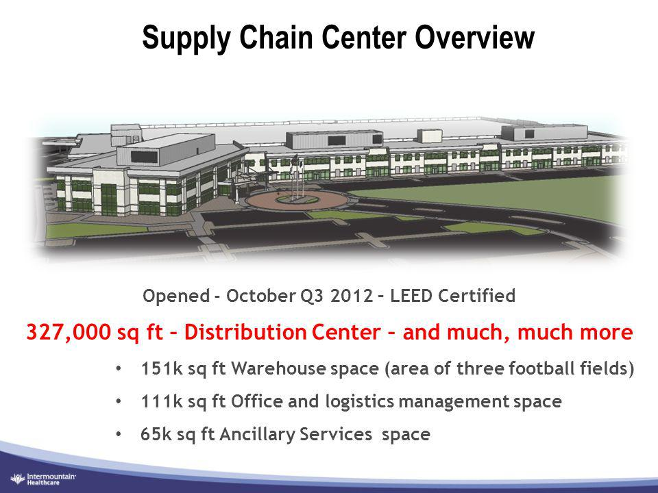 Supply Chain Center Overview