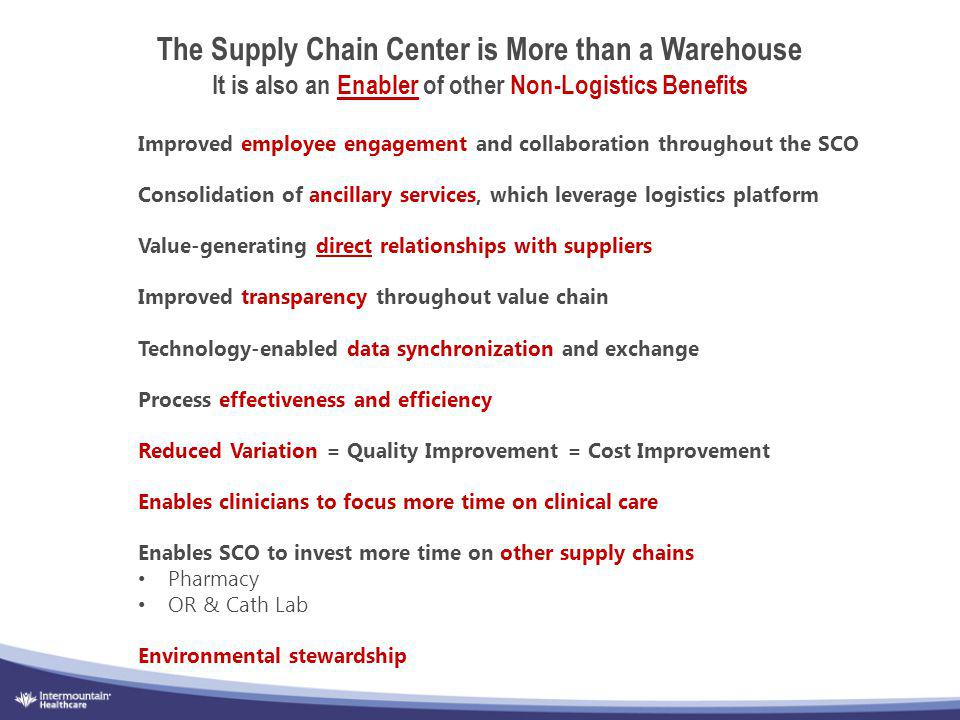 The Supply Chain Center is More than a Warehouse