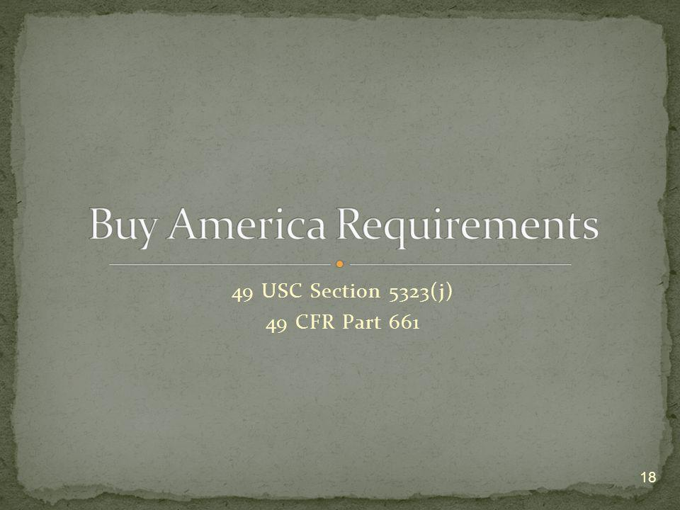 Buy America Requirements