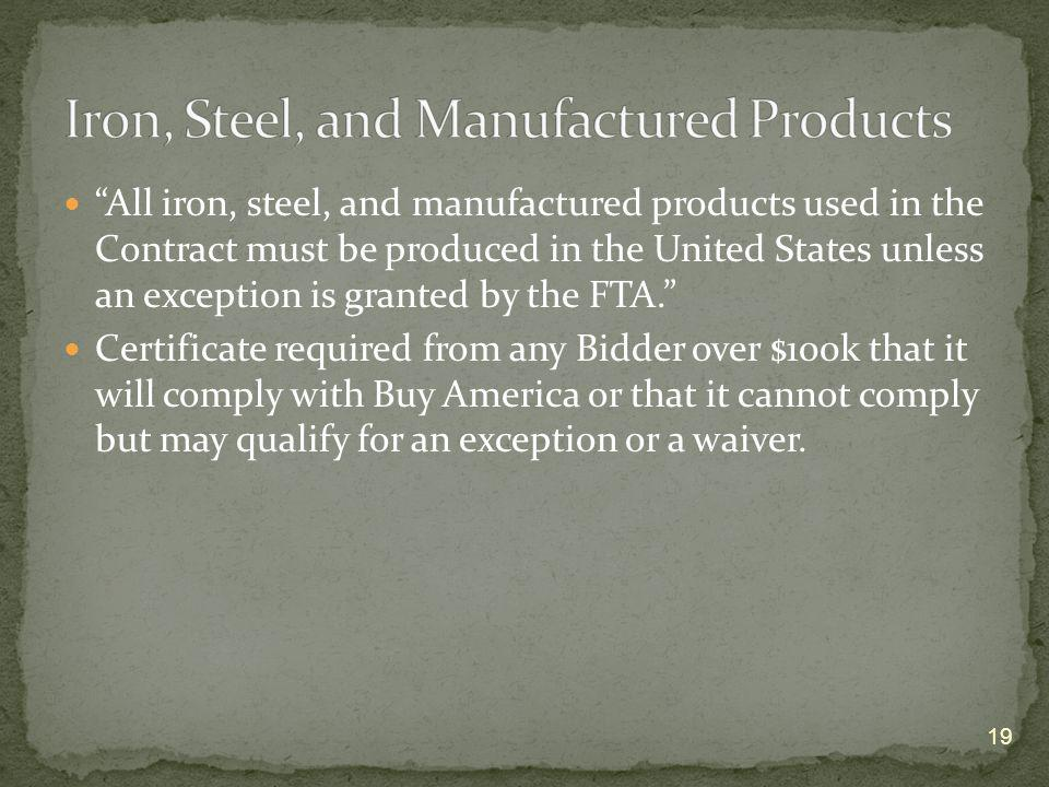 Iron, Steel, and Manufactured Products