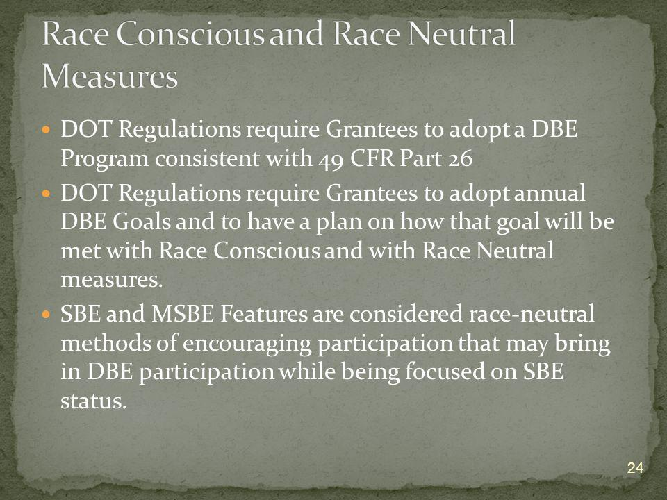 Race Conscious and Race Neutral Measures
