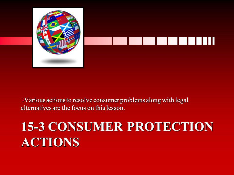 15-3 Consumer protection actions