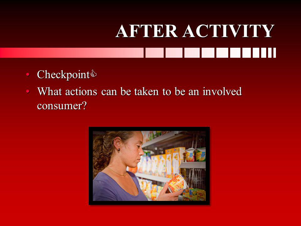 AFTER ACTIVITY Checkpoint