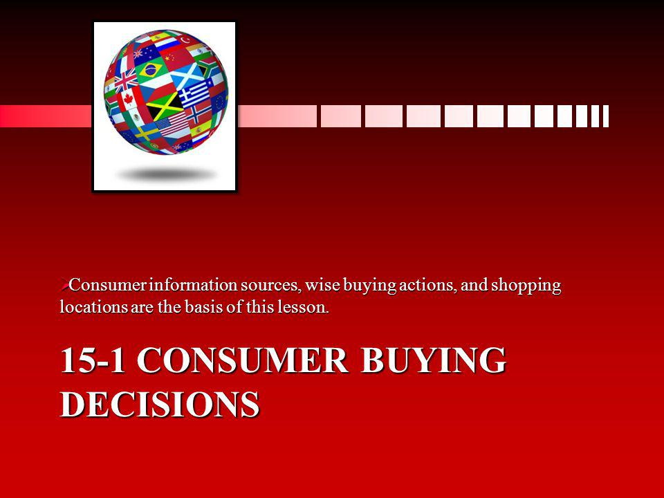 15-1 Consumer buying decisions